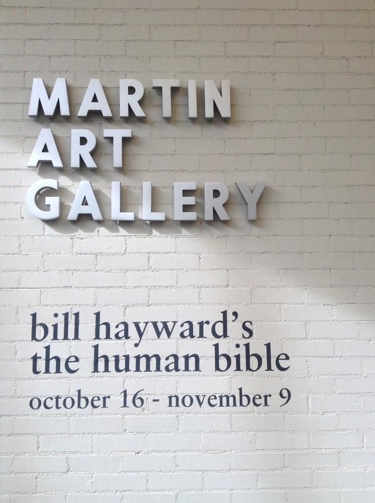 "Martin Art Gallery - ""bill hayward's the human bible"""